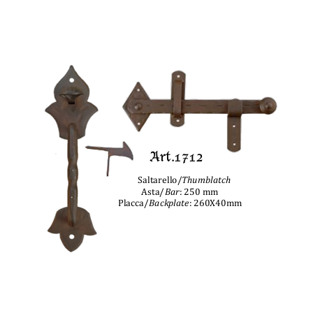 Kovaná závora s tiahlom model 1712