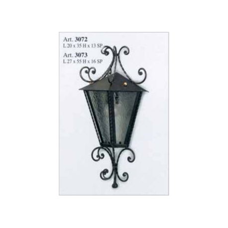 Kovaná nástenná lucerna model 3073