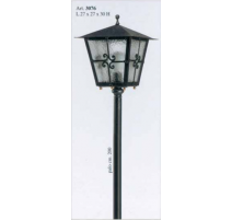 Vonkajšia kovaná stojaca lampa model 3076