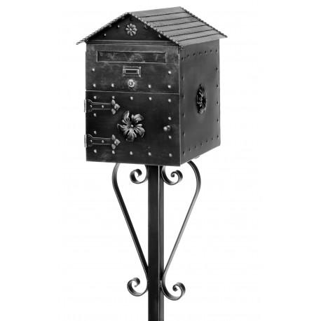 Kovaná poštová schránka model 1084 samostatně stojící