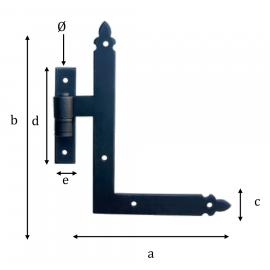 Kovaný rohový pánt model 1770