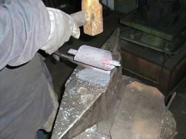 Ukážka výroby kovaného kovania